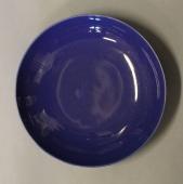 SOLGT Confetti dyb mørkblå tallerken Aluminia