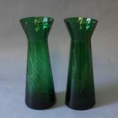 Gamle grønne hyacintglas