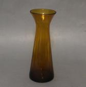 Gammel mundblæst hyacintglas med optiske striber