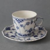 Kongelig Musselmalet Helblonde kaffekop 1038
